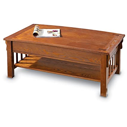 Amazoncom CASTLECREEK Mission style Lift top Coffee Table