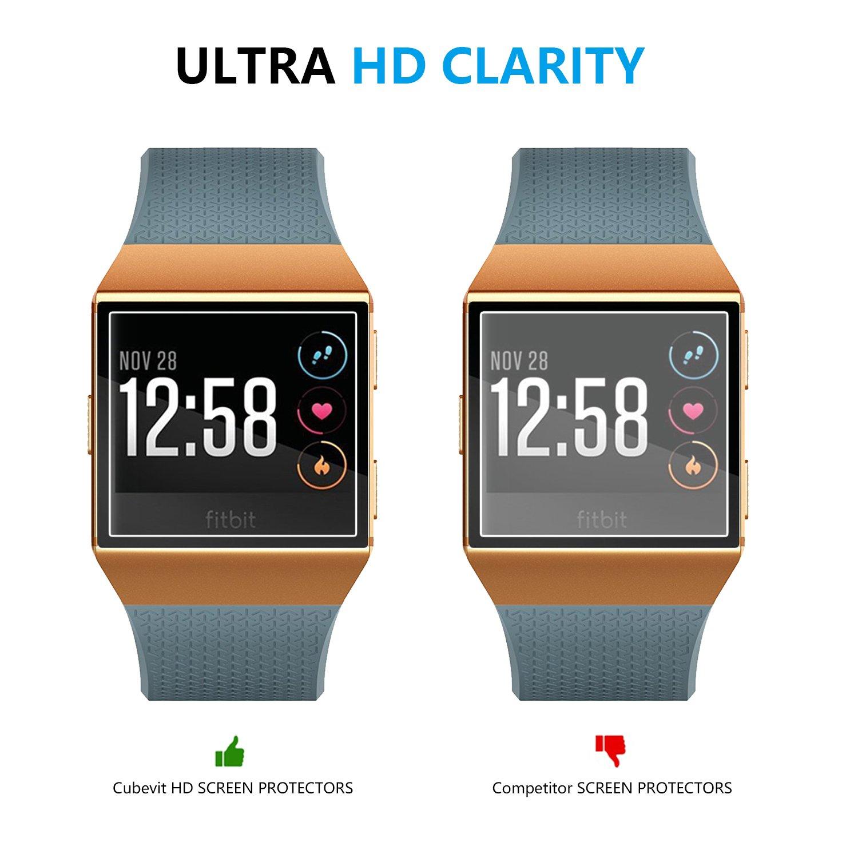 Fitbit Ionic Protector de Pantalla, [6-Pack] Cubevit Protector de Pantalla para Fitbit Ionic, No Burbujas / Ultra Trasparente TPU Aplicado en Húmedo ...