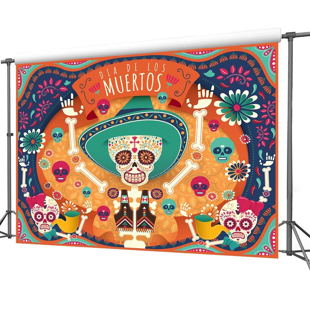 Amazon.com : Mehofoto Day of The Dead Backdrop Día de Los Muertos ...