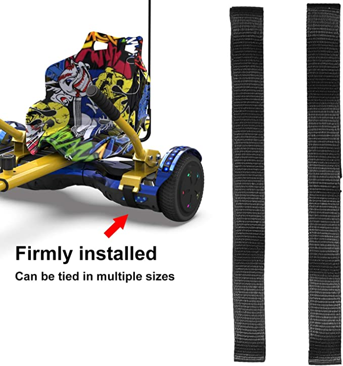 Compatible with Most Size Hoverboard Electric Self Balancing Scooter EverCross Hoverboard Seat Attachment Straps Hoverboard Attachments Flexible Straps