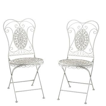 Greenware Romantische Deko Möbel, Bistrostuhl, Pflanzentisch, Metal  Geflochten Sissy Stuhl, Weiß