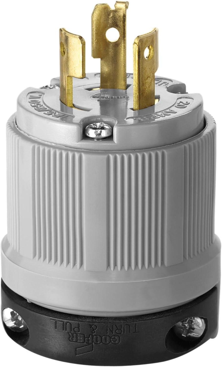 Eaton 5745N 50 Amp 125//250V 14-50 Industrial Power Plug Gray