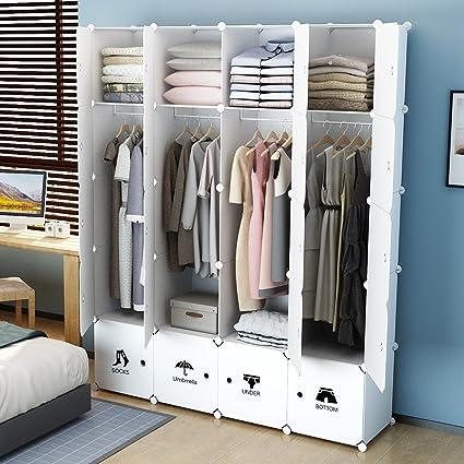 Amazon Com Kousi Portable Wardrobe Closet For Bedroom Clothes