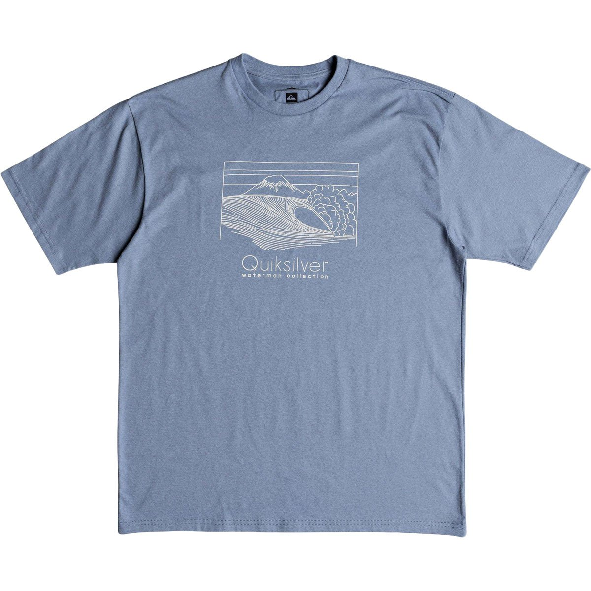 Quiksilver Men's Sketchy Scene Tee Shirt, Blue Shadow, L