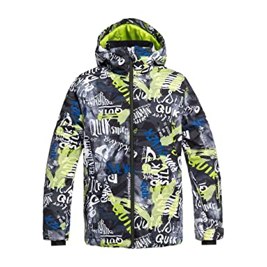 a674694c8 Amazon.com  Quiksilver Mission Printed Kids Snow Jacket  Clothing