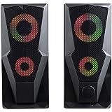 Caixa de Som Multilaser Gamer P2+USB Stereo 2.0 15W RMS LED RGB - SP330