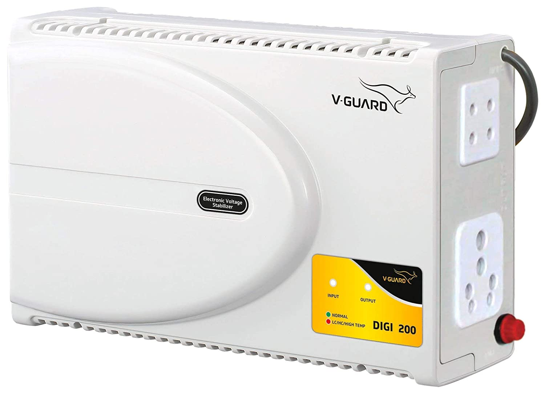 V-Guard Abs Digi 200 Voltage Stabilizer for Television, Grey