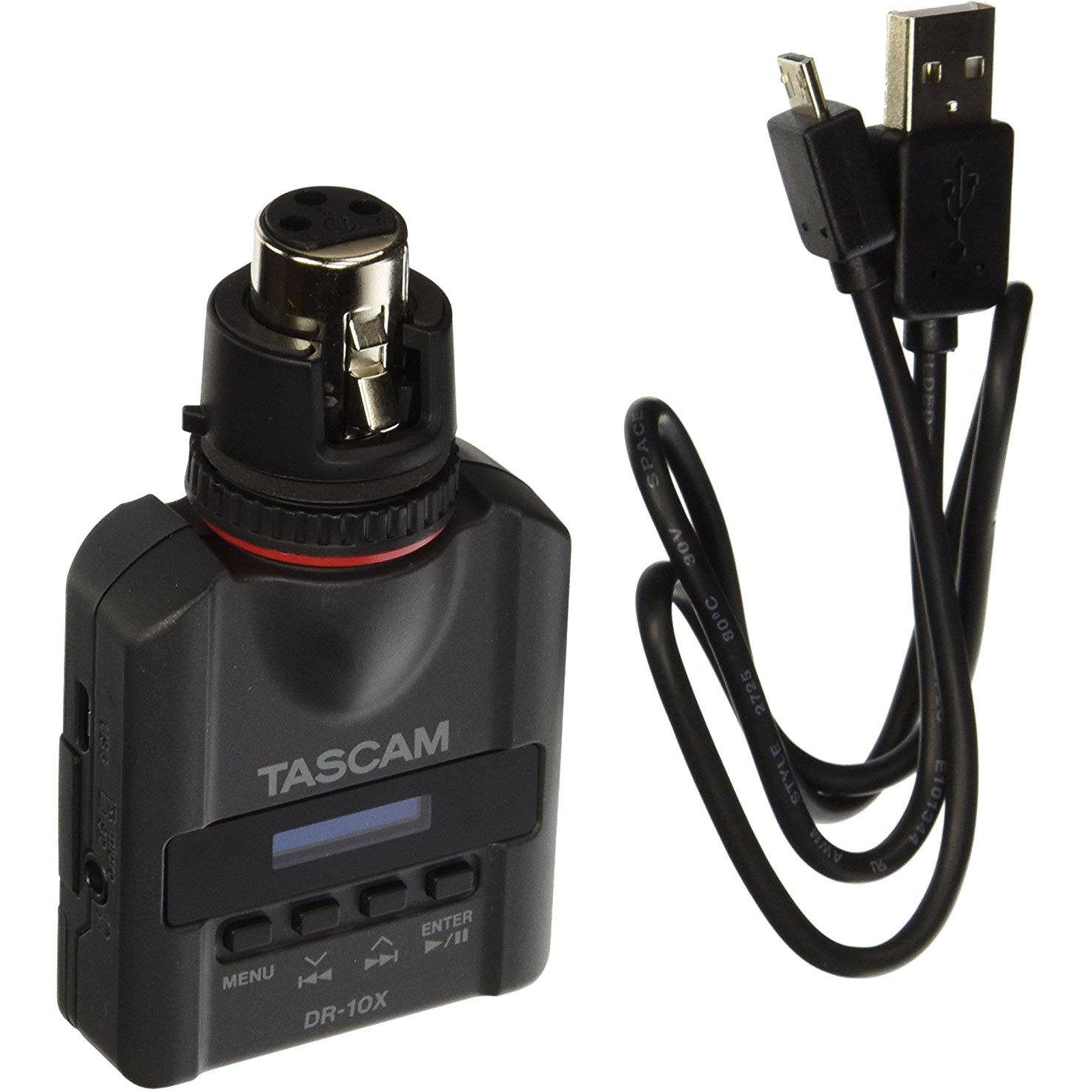 Tascam DR-10X Plug-On Linear PCM Digital Audio Recorder for XLR Microphones