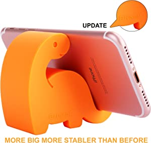 "Plinrise Animal Desk Phone Stand, Update Dinosaur Silicone Office Phone Holder, Creative Phone Tablet Stand Mounts, Size:1.3"" X 3.0"" X 2.7"" (Orange)"