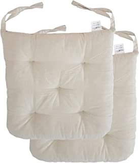 Cottone 100% Cotton Chair Pads w/ Ties (Set of 2) | 16  sc 1 st  Amazon.com & Amazon.com: IKEA MALINDA Chair Cushion (1 White): Home u0026 Kitchen