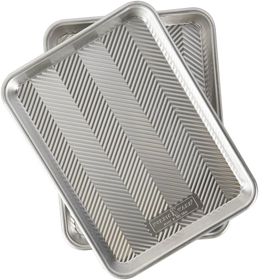 Nordic Ware 45374AMZ Prism Quarter Sheet, 2-Pack,Aluminum