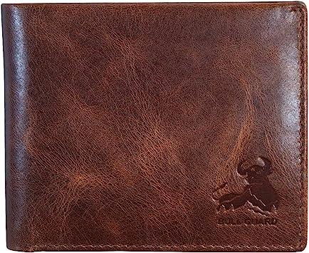 Men's RFID Blocking Leather Wallet Tan Brown Soft Napa Leather