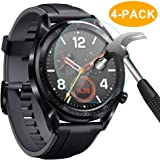 CAVN Huawei Watch GT Screen Protector, [4 Packs] Waterproof Tempered Glass Screen Protection Cover Saver for Huawei Watch GT Smartwatch [High Sensitively] [HD Clear] [Anti-Scratch] [Anti-Bubble]