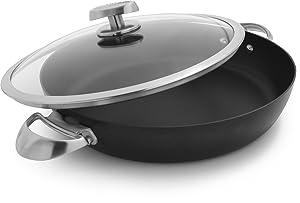Scanpan Pro IQ Nonstick Covered Chef Pan, 4 Quart, Black