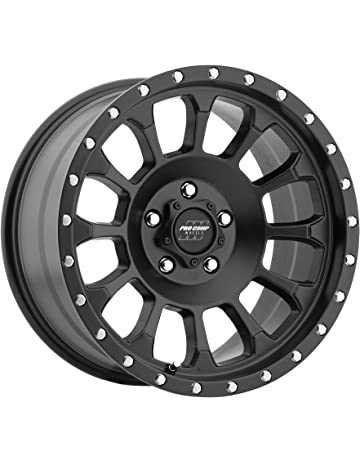 amazon truck suv wheels automotive street off road 2013 GMC 4x4 pro p series 34 rockwell satin black 17x8 5 5x5 6mm