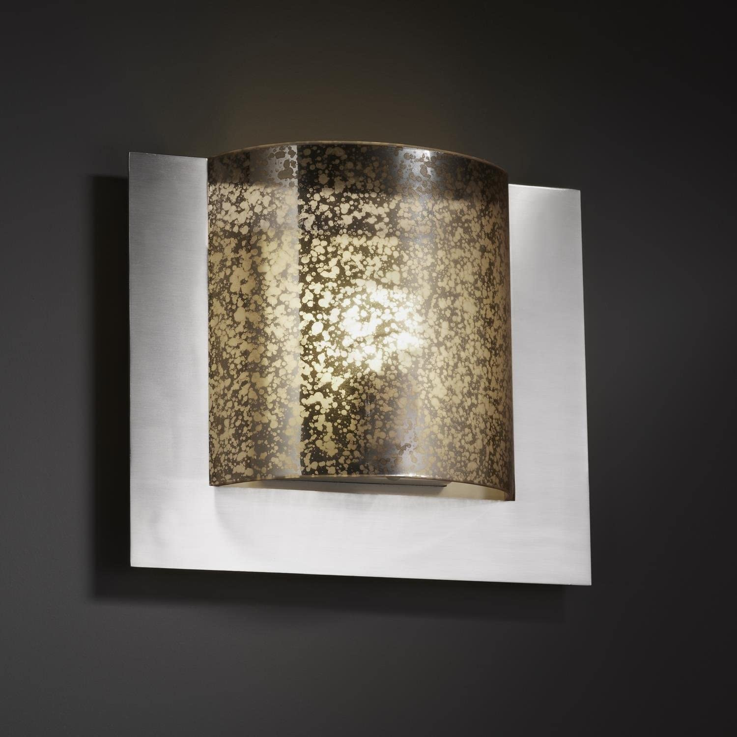 Justice Design Group Lighting FSN5560WEVECROM FusionCollection Framed Square 3-Sided Wall Sconce