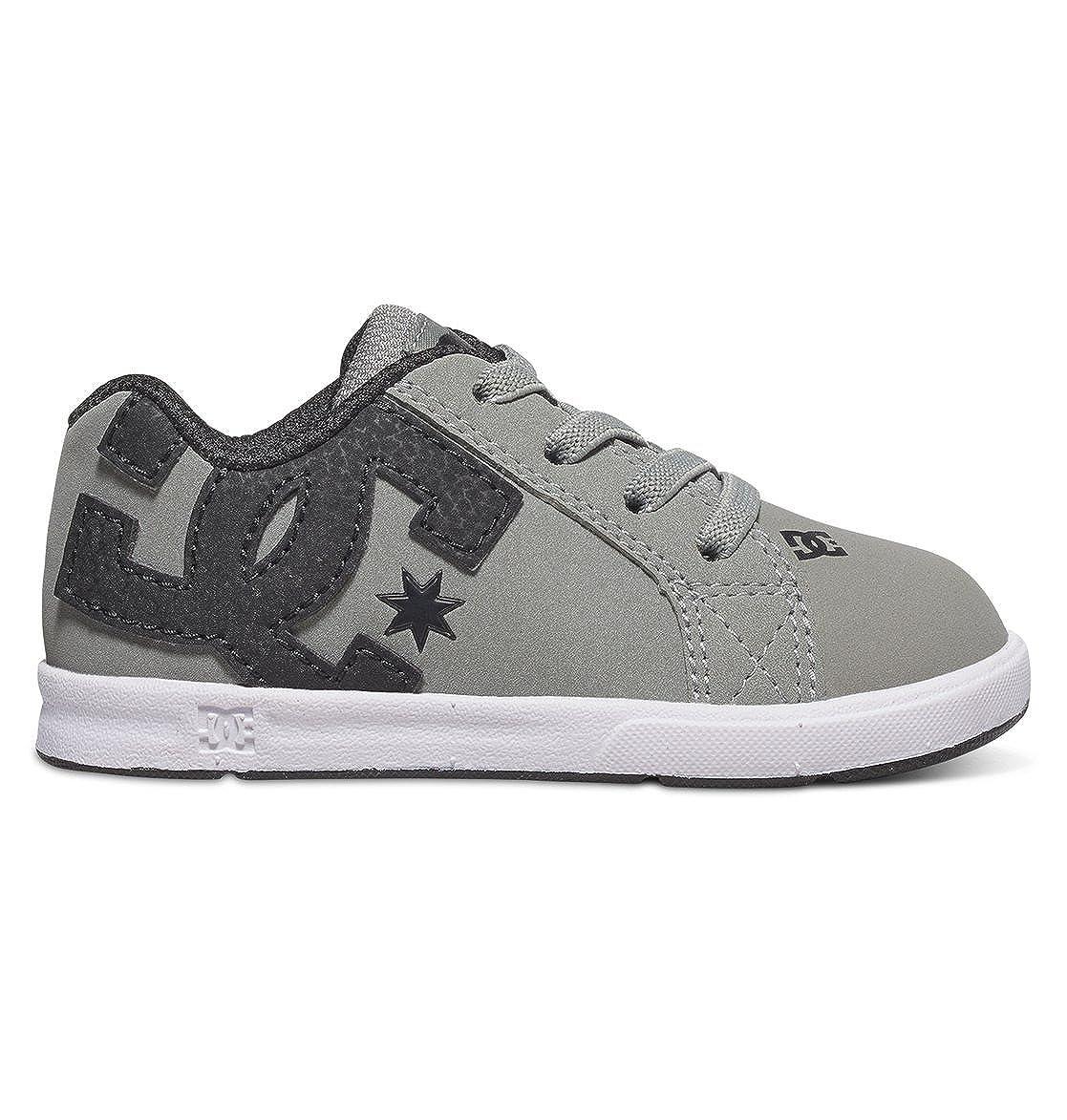 DC Court Graffik Elastic UL Skate Sneaker (Toddler) COURT GRAFFIK ELASTIC UL - K