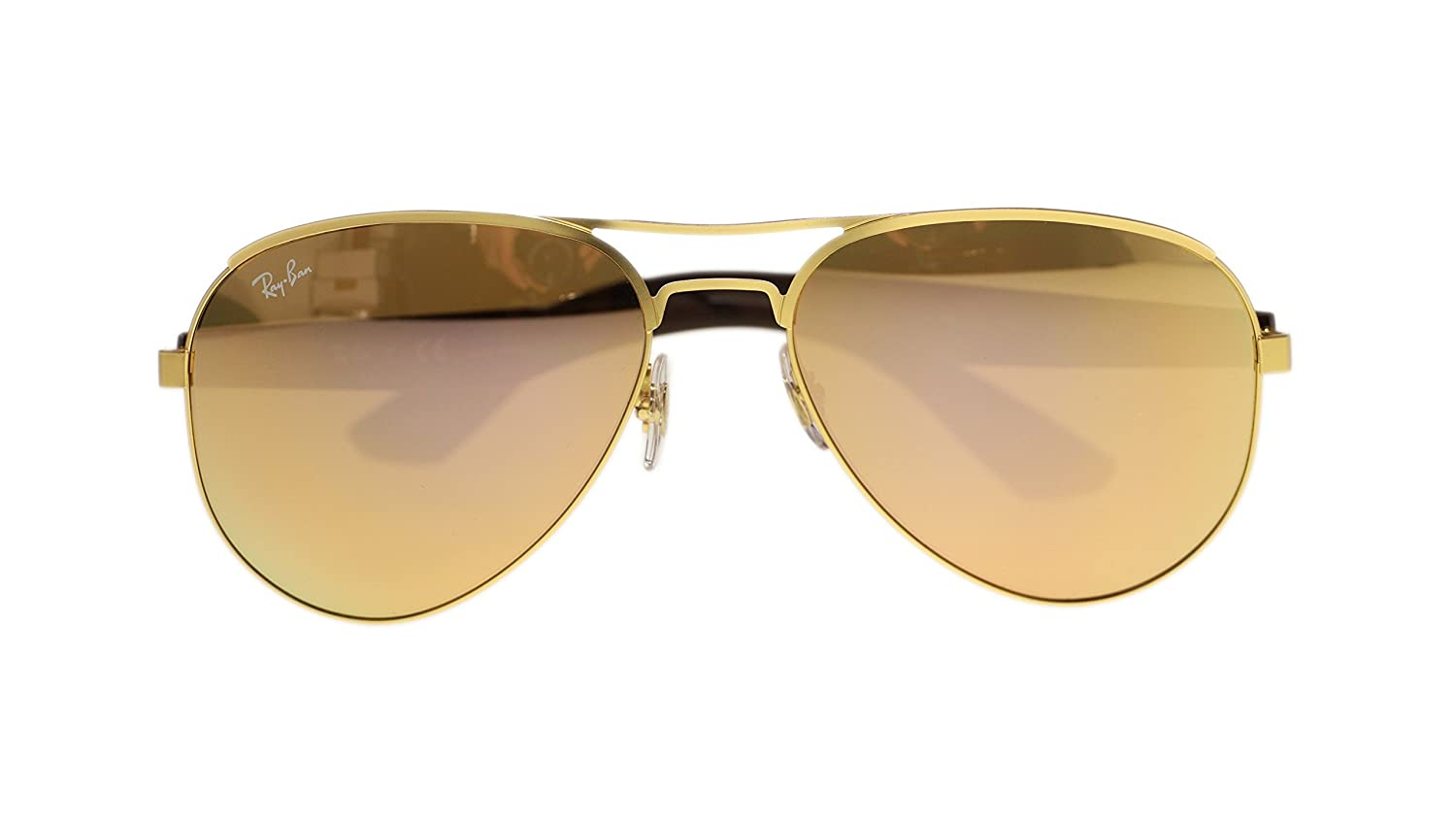 bbe6607a42b Ray Ban Mens Sunglasses RB3523 112 2Y Gold Light Brown Mirror Pink Lens  59mm Authentic  Amazon.co.uk  Clothing