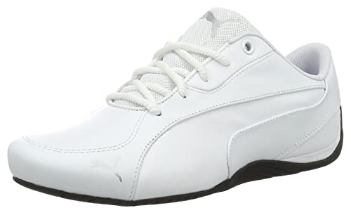 Puma Men s Drift Cat 5 Core White Leather Sneakers - 10 UK India (44.5 96f1d01e1