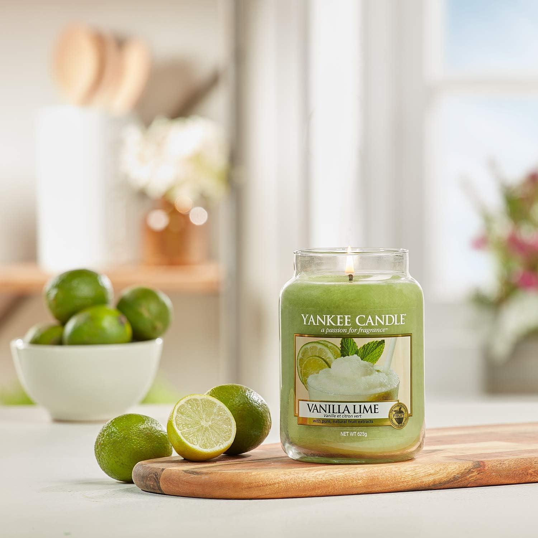 Yankee Candle bougie jarre parfum/ée jusqu/à 150/heures de combustion Vanille et Citron Vert grande taille