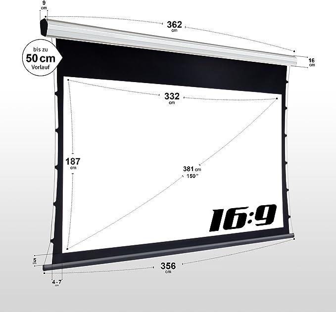 """100/"""" ESMART Germany acústica-marco lienzo Mirale 221 x 125 cm 16:9"""