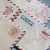 Lot de 40 minis enveloppes vintages Motif Par Avion Airmail