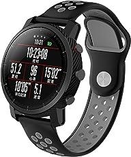 Senter por AMAZFIT 2 2S Correa, 22mm Correa de Repuesto Deportiva de Silicona Suave Correa por AMAZFIT 2 2S/Samsung Gear S3 Frontier Smart Watch