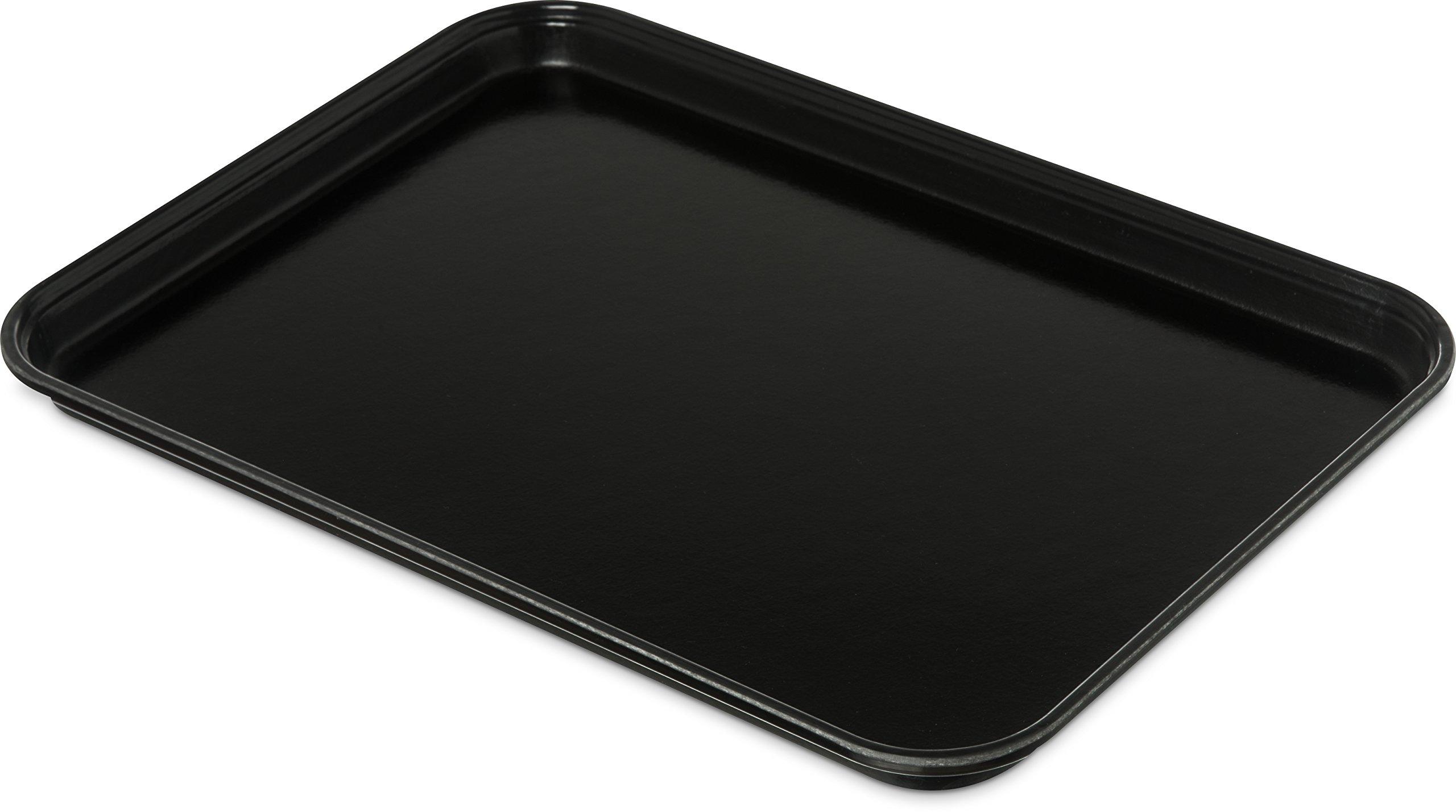 Carlisle 1318FMT309 Food Service Display Tray, 13'' x 18'', Black (Pack of 12)