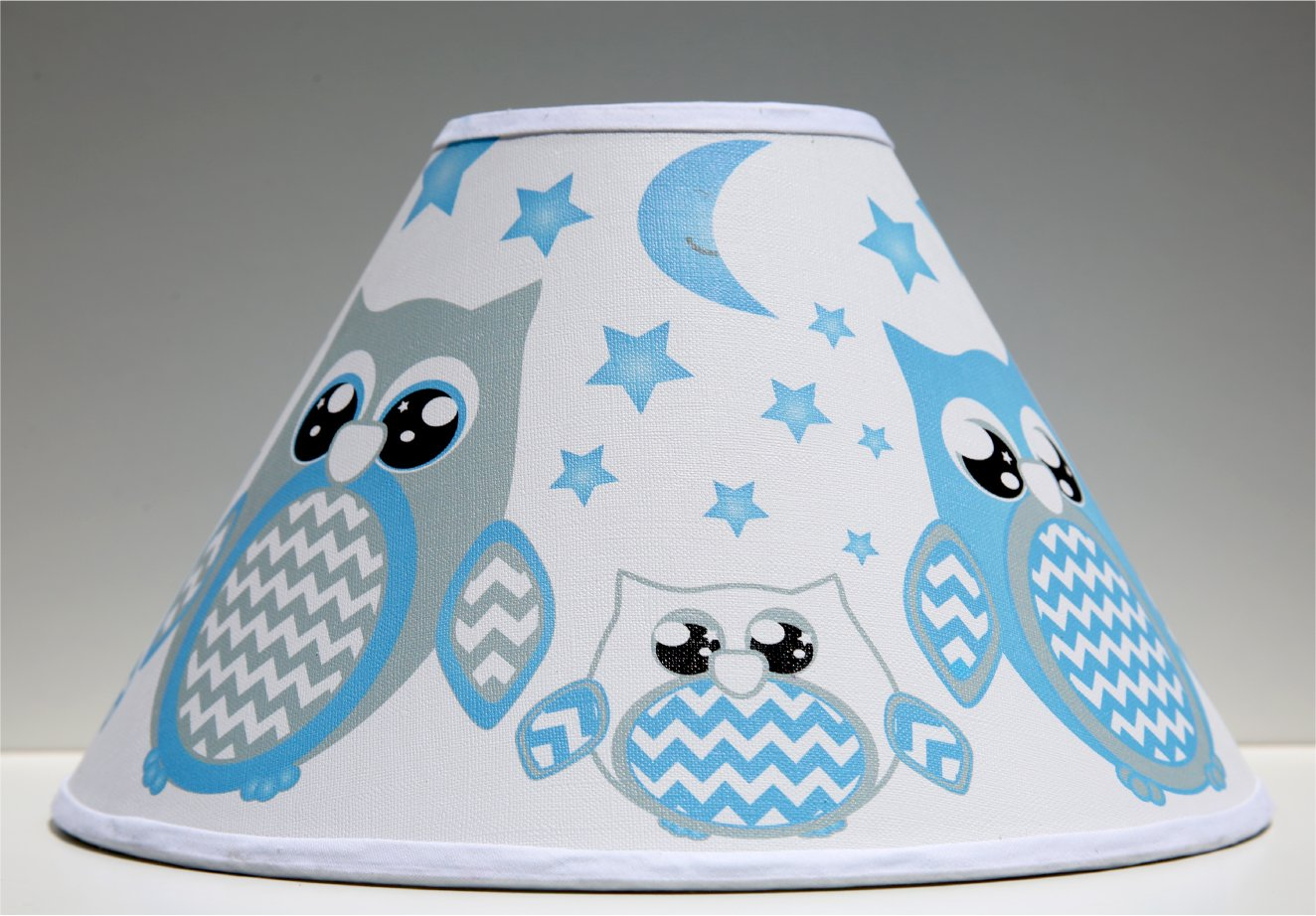 Blue Owl Lamp Shade/Children's Blue Owl Woodland Forest Animal Nursery Room Decor