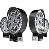 TURBO SII 4Pack 4inch 27W Flood Round Pods Led Work Light Driving Fog Light Offroad Light for Tractor Off-Road SUV Boat 4X4 4