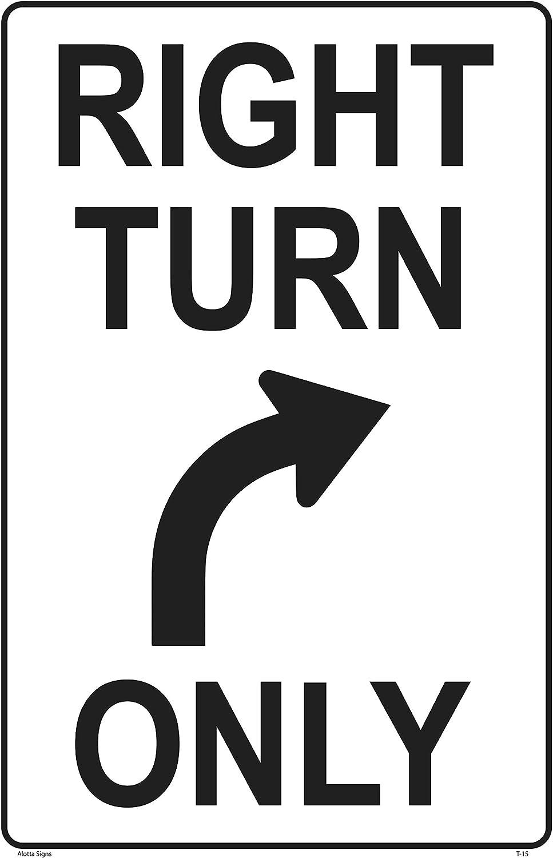 "Durable Metal Street Sign Enter Here Right Garage Bar BusIness Door  3/""x18/"""