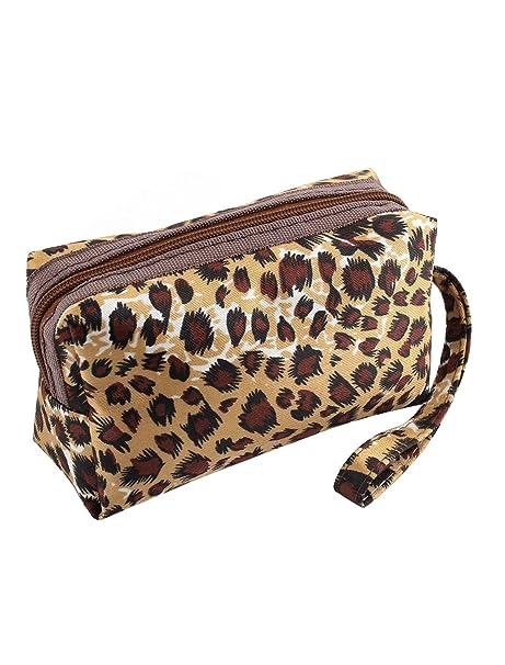 f97caacd8 Mini correa de nailon diseño de piel de leopardo Monedero soporte para  tarjeta identificativa dinero para mujer: Amazon.es: Ropa y accesorios