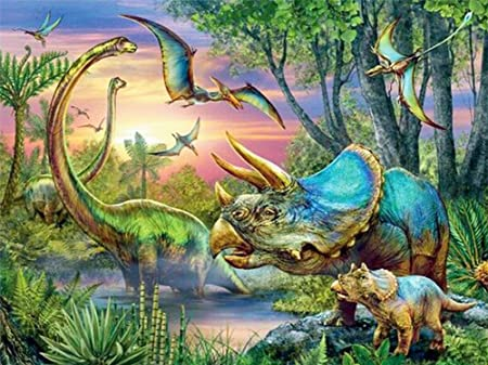 Dinosaur World 5D Diamond Painting Embroider Decoration Rhinestone Pasted Kits Mosaic Wall Paint Fashion Cross