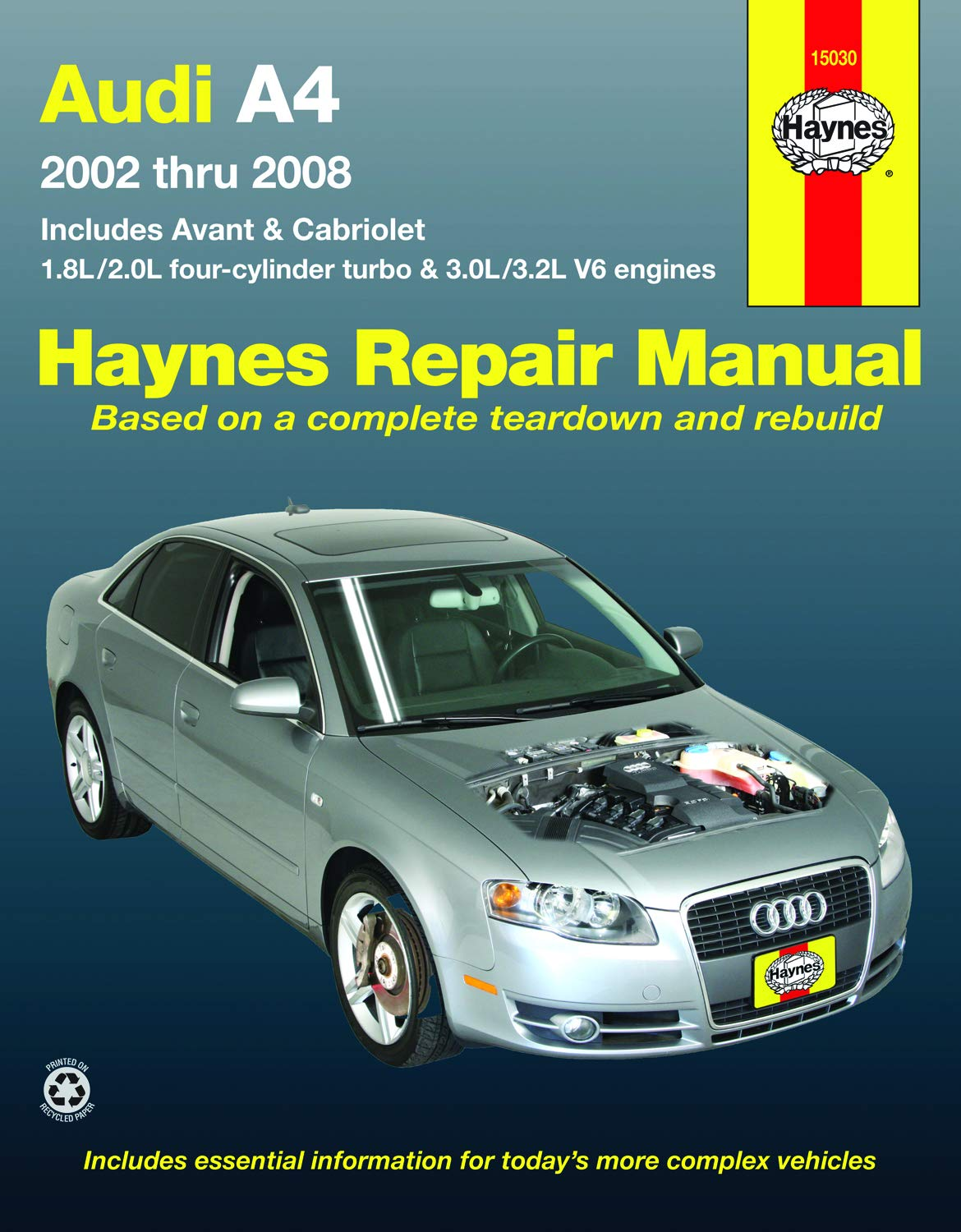 Audi A4 Sedan, Avant, & Cabriolet 2002-2008 Haynes Repair Manual USA Haynes Automotive Repair Manual: Amazon.es: Haynes Publishing: Libros en idiomas ...