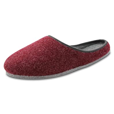 OLShop AG Damen Rot Filz Pantoffeln mit Filzsohle Gr. 44 P97cB