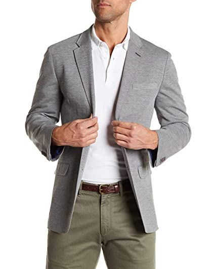 Tommy Hilfiger Mens Gene Two Button Unconstructed Knit Blazer