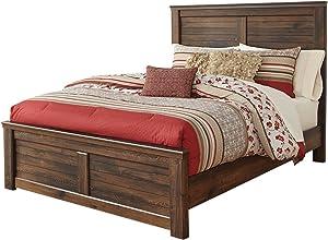 Ashley Furniture Signature Design - Quinden Vintage Casual Panel Bedset - Queen Size Bed - Dark Brown