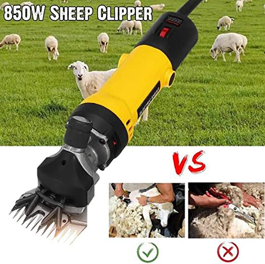 220V 850W Electric Wool Shear Shearing Sheep Goats Clipper Pet Trimmer Cut