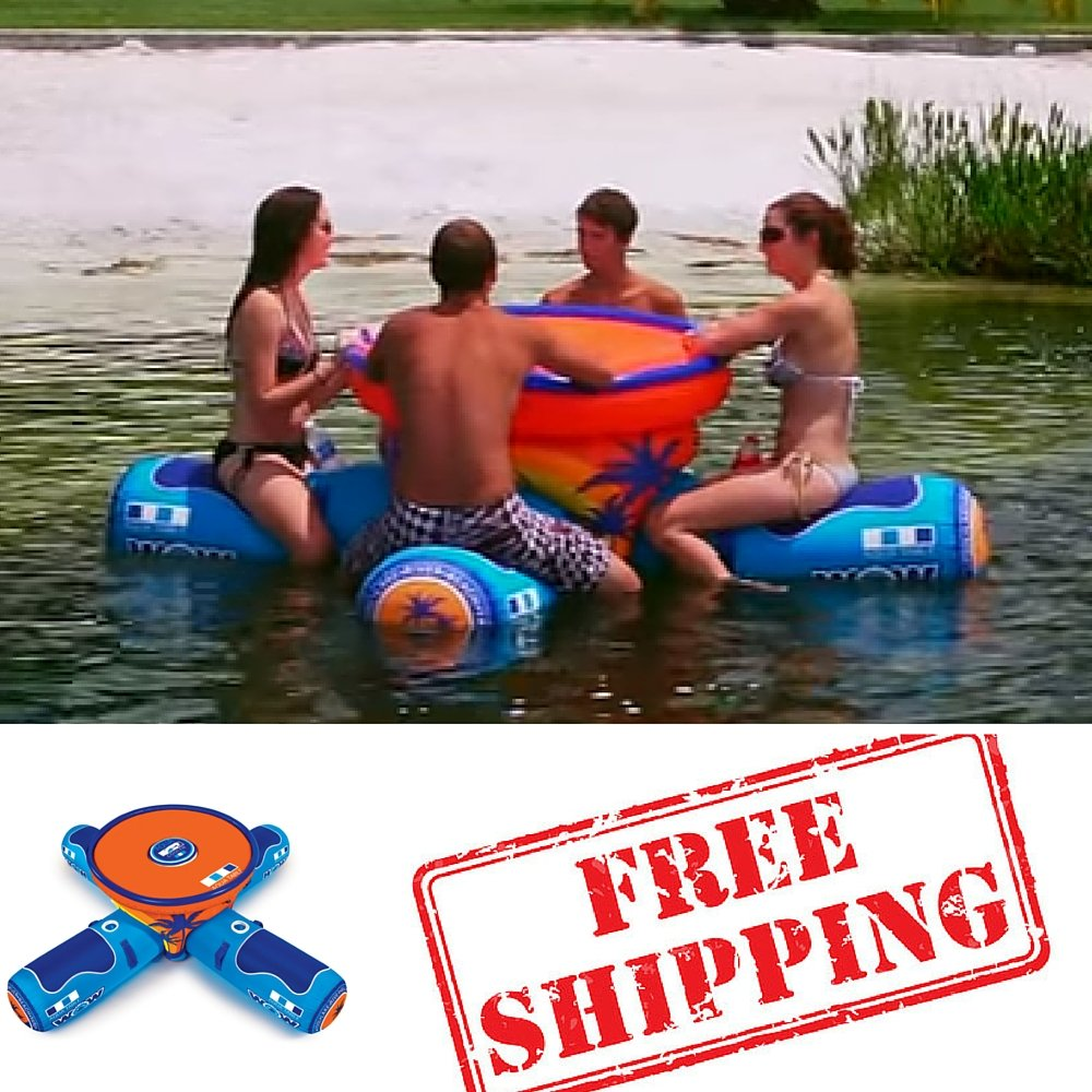 Inflatable Table Amazoncom Inflatable Pool Party Table Floating Picnic Table