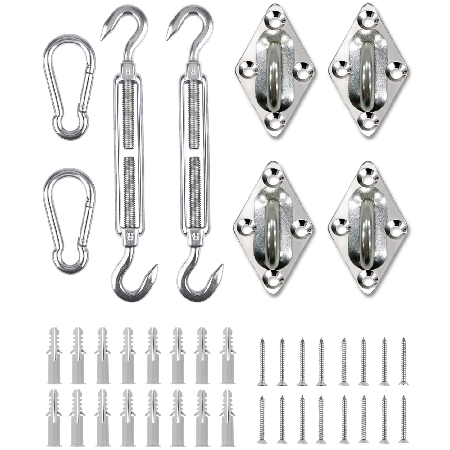 Shade Beyond Shade Sail Hardware Kit For Rectangle And Square Heavy