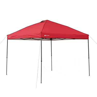 Canopy Ozark Trail 10' x 10' Instant Lighted (Red) : Garden & Outdoor