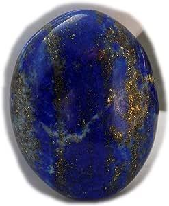 The Best Jewellery Lapis Lazuli cabochon, 35Ct Lapis Lazuli Gemstone, Oval Shape Cabochon For Jewelry Making (24x18x8mm) SKU-15102