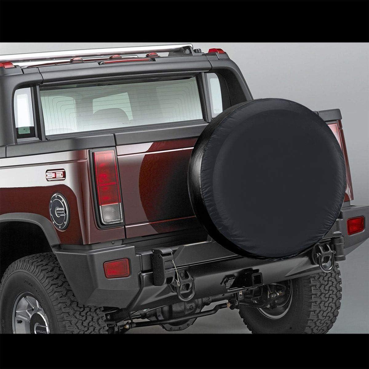 Alicoco Spare Tire Cover Vintage Off Road Grill Logo JK TJ CJ Black Fits: Jeep Wrangler Accessories,SUV,Camper and RV