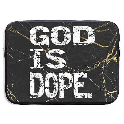 b09cf77e957d Amazon.com: God is Dope Notebook Bags Zipper Laptop Bag 13 Inch ...