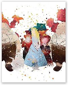 Alice in Wonderland Poster – Kids Bedroom Wall Art Print Decor – Nursery Baby Artwork – Princess Alice – Girls Bedroom – Playroom Decoration – Party (8x10)