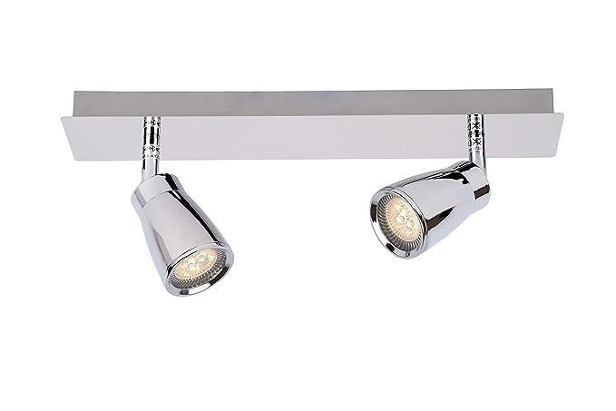 Lucide LANA - Deckenstrahler Badezimmer - LED - GU10 - 2x4,5W 3000K ...
