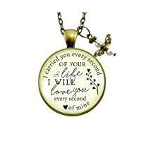 I Carried You Miscarriage Necklace Baby Loss Angel Charm Jewelry Gift