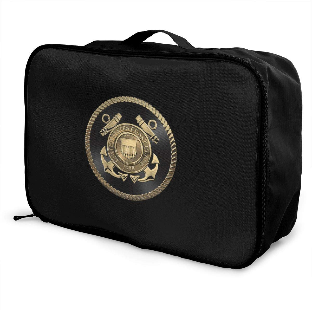 U S Coast Guard USCG Emblem Travel Carry Luggage Duffle Tote Bag
