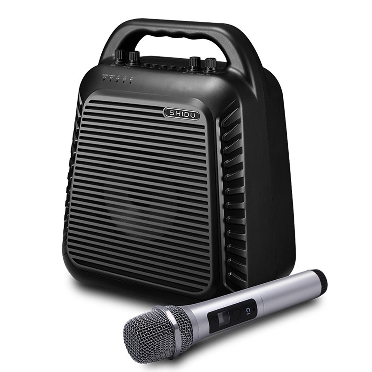 Portable PA System Wireless Microphone SD-90A 60W Bluetooth Karaoke PA Speaker Rechargeable Loud Speaker for Classroom, Party, Outdoors Or Stage Performance