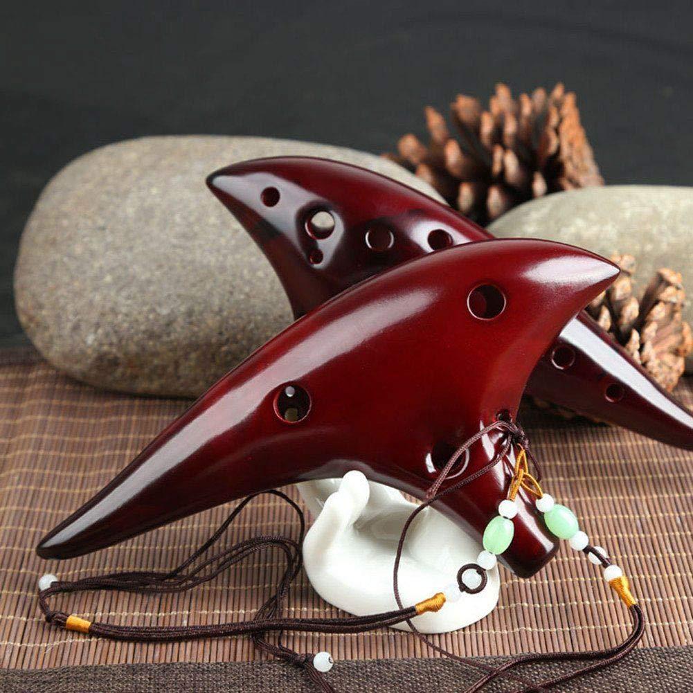 Sala-Fnt - Professional 12 Hole Alto C Smoked Ceramic Ocarina Tenor Collectible and Ideas Gift - - Amazon.com